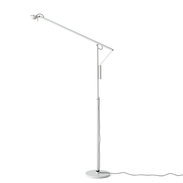 Fifty-Fifty LED Stehleuchte von Hay in Lichtgrau (RAL 7035)