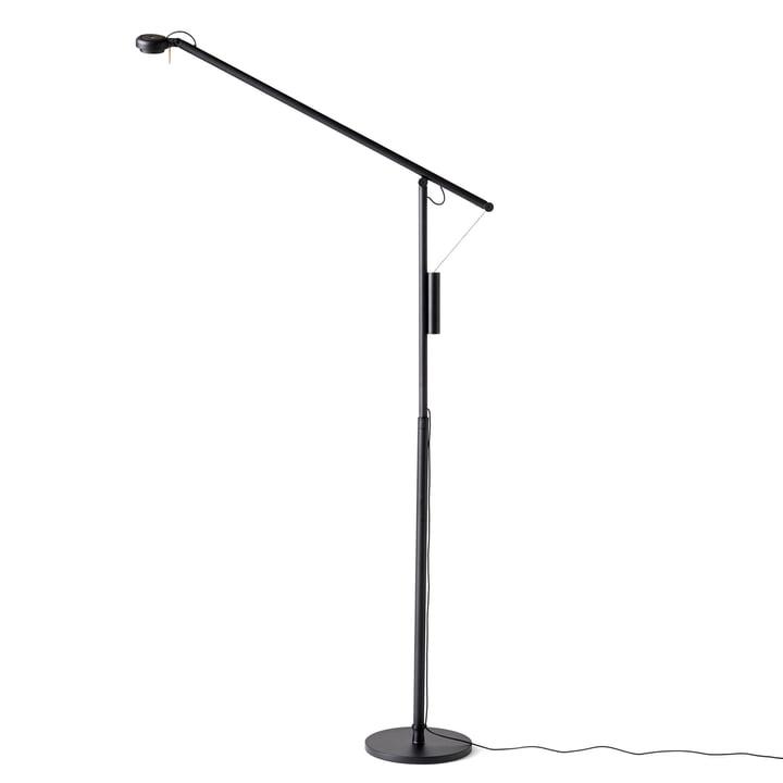 Fifty-Fifty LED Stehleuchte von Hay in Signalschwarz (RAL 9004)