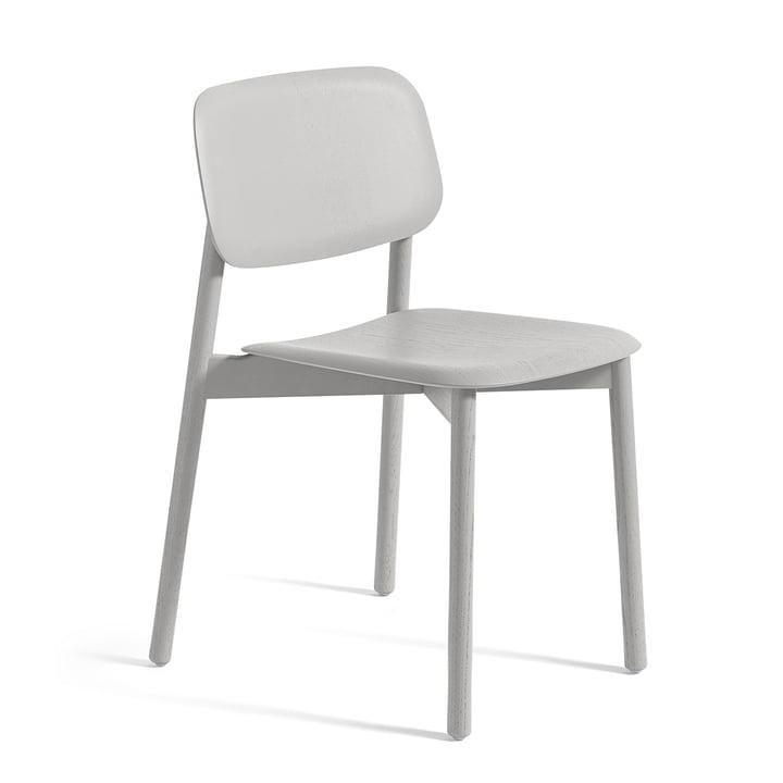 Soft Edge 12 Stuhl von Hay in Eiche Soft Grau gebeizt