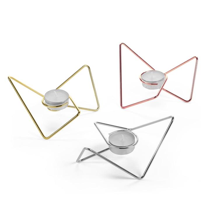 Tri-Angular Loop Teelichthalter trio (3-teilig) von Black + Blum