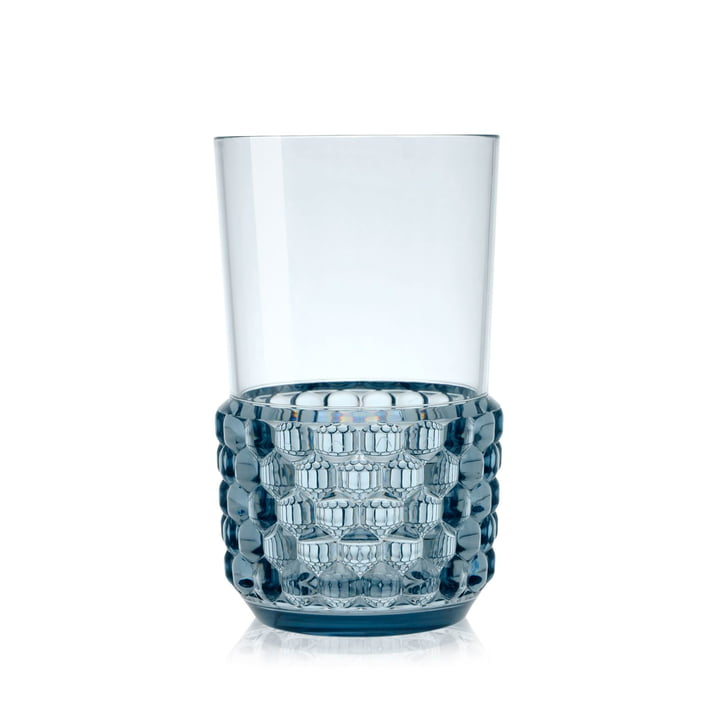 Der Kartell - Jellies Becher, Ø 8,5 x H 15 cm in blau