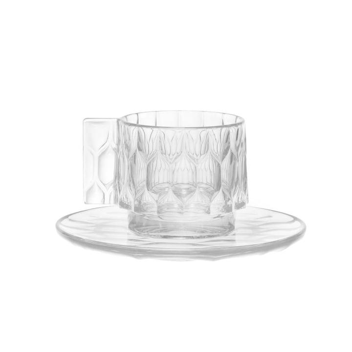 Die Kartell - Jellies Espresso Tasse und Untertasse in glasklar