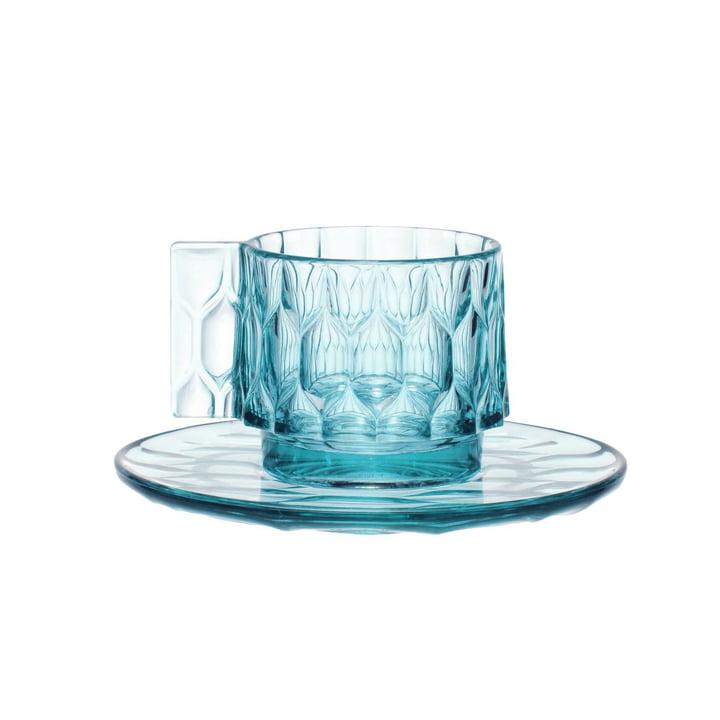 Die Kartell - Jellies Espresso Tasse und Untertasse in blau