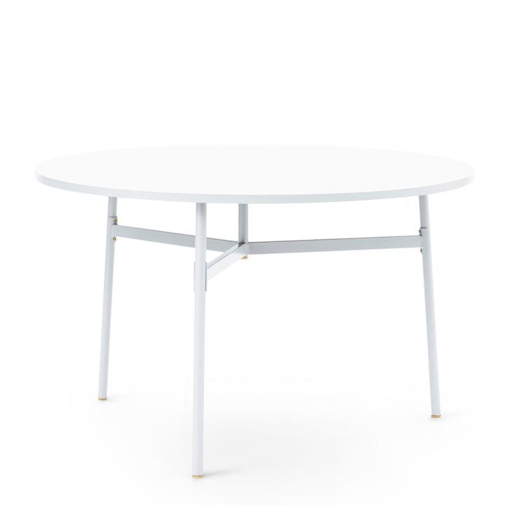 Normann Copenhagen - Union Esstisch, Ø 120 x H 74,5 cm, weiß