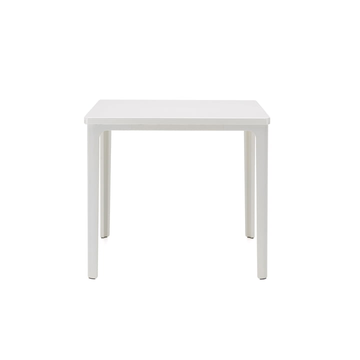 Der Vitra - Plate Table, 41 x 41 cm in weiß pulverbeschichtet / MDF weiß