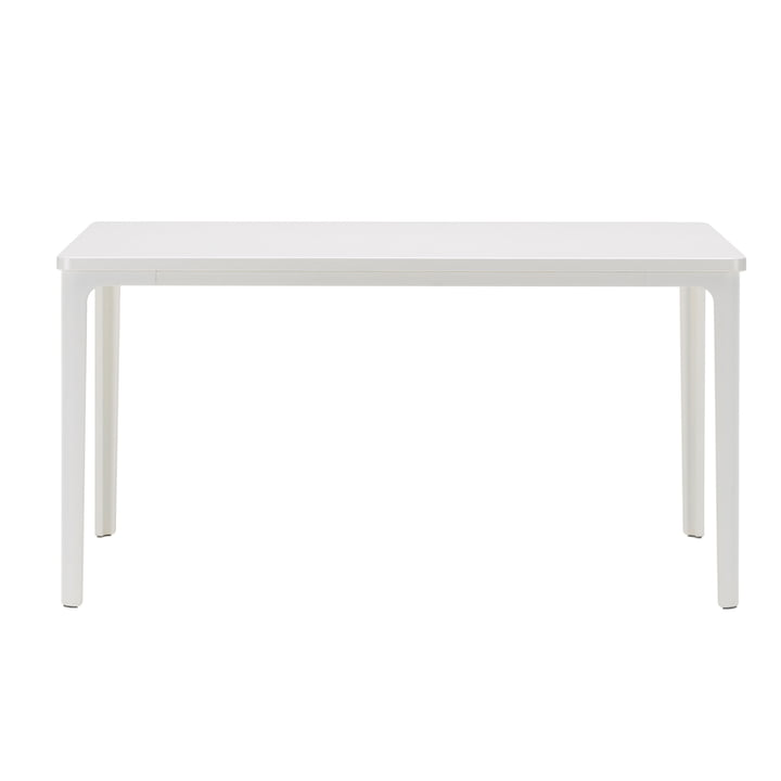 Der Vitra - Plate Table, 71 x 71 cm in weiß pulverbeschichtet / MDF weiß