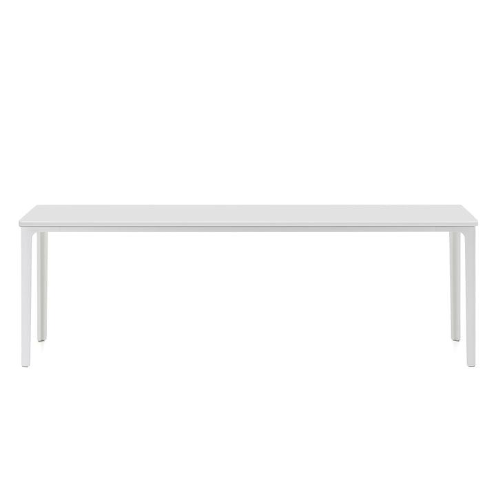 Der Vitra - Plate Table, 113 x 41 cm in weiß pulverbeschichtet / MDF weiß