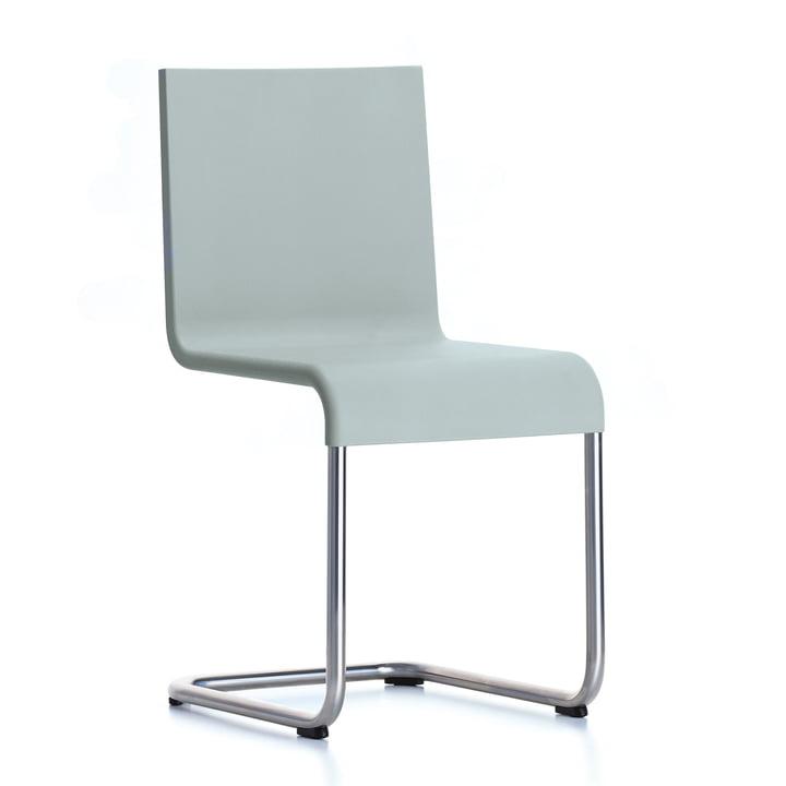 Der Vitra - .05 Stuhl stapelbar in Edelstahl / grau