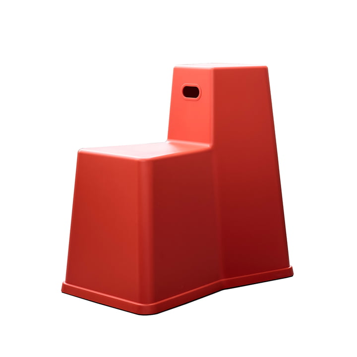 Der Vitra - Stool-Tool in poppy red