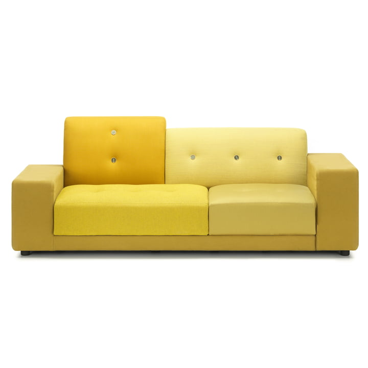 Das Vitra - Polder Compact Sofa in golden yellow