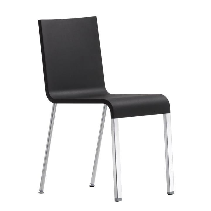 Vitra - .03 Stuhl nicht stapelbar, silber (RAL 9006) / basic dark