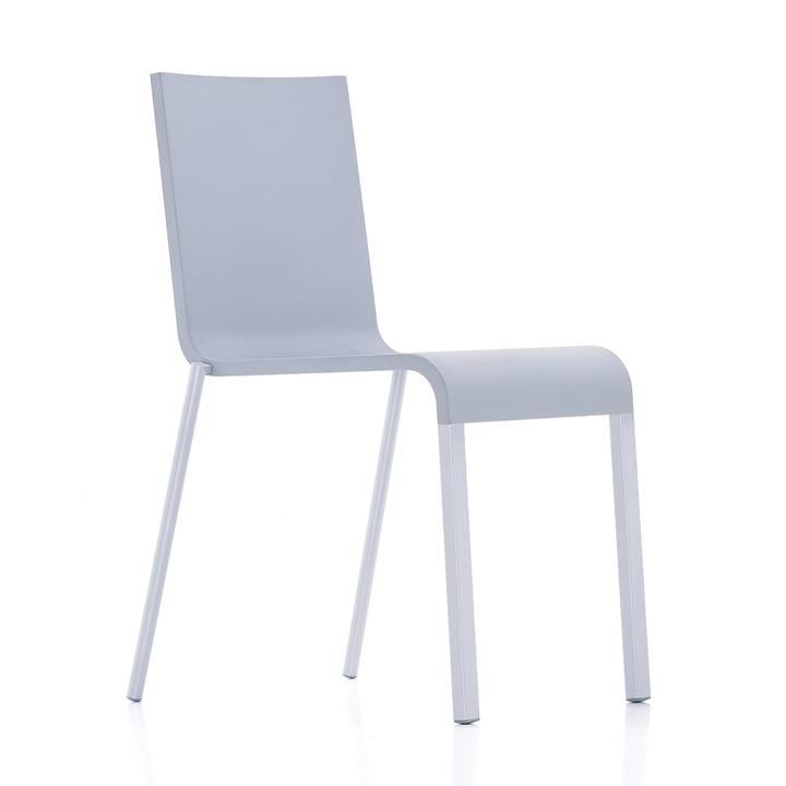 Vitra - .03 Stuhl stapelbar, silber (RAL 9006) / grau