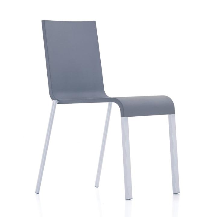 Vitra - .03 Stuhl stapelbar, silber (RAL 9006) / dunkelgrau