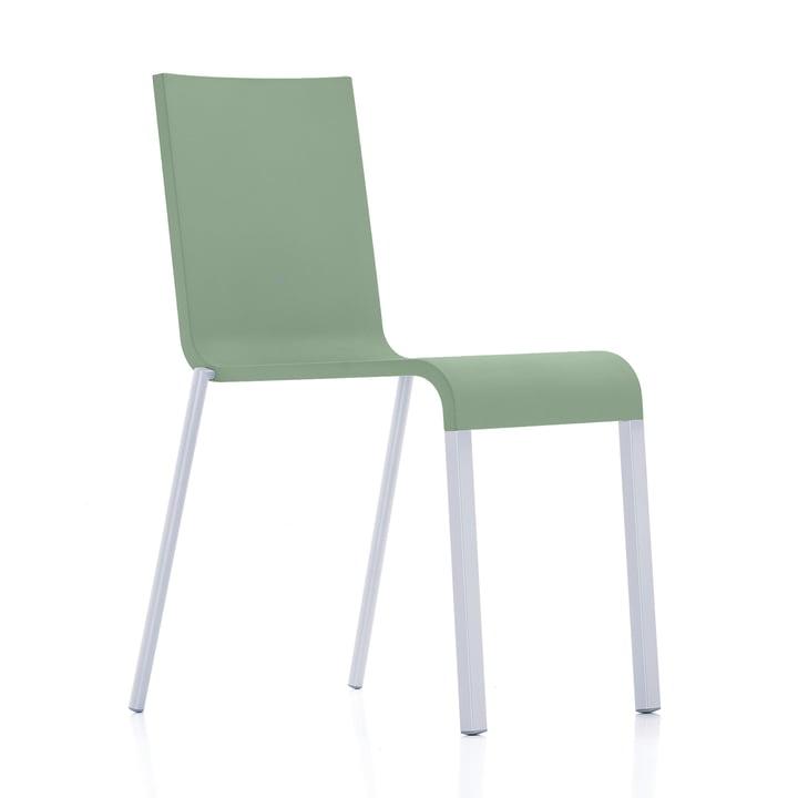 Vitra - .03 Stuhl stapelbar, silber (RAL 9006) / mint