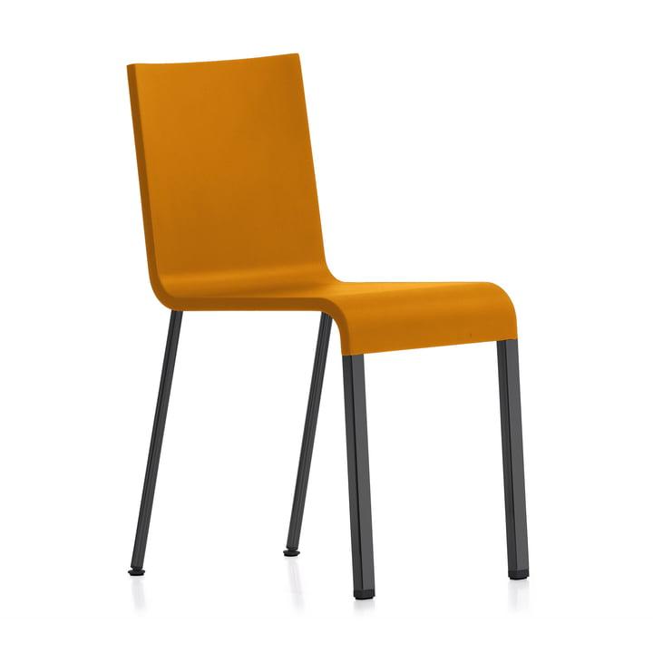 Vitra - .03 Stuhl nicht stapelbar, pulverbeschichtet schwarz / mango