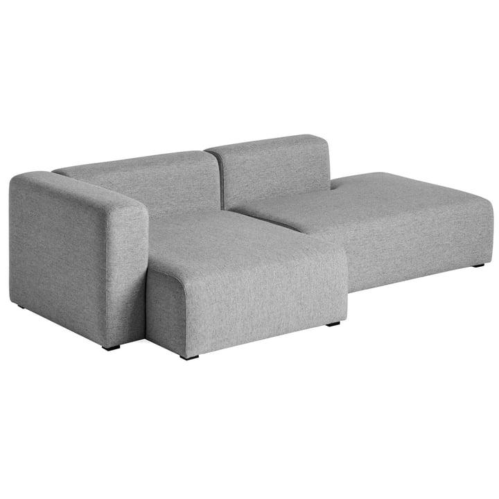 Hay - Mags Sofa 2,5 Sitzer, Kombination 3, Armlehne links / grau (Hallingdal 116)