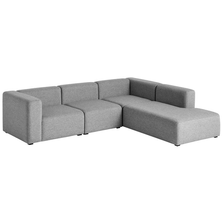 Hay - Mags Sofa, Eck-Kombination 2, rechts / grau (Hallingdal 116)