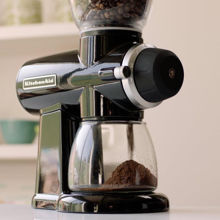 Die KitchenAid - Artisan Kaffeemühle im Einsatz