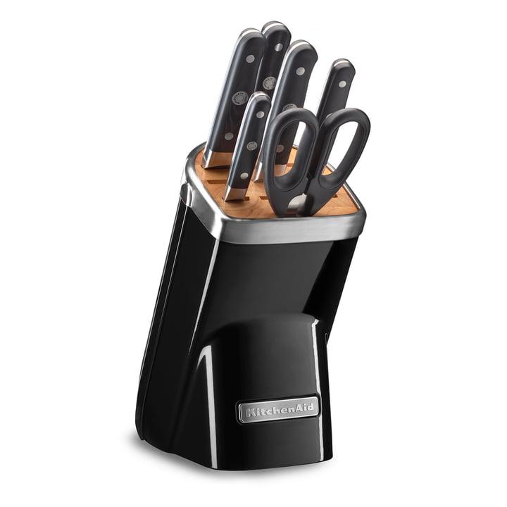 Der KitchenAid - Messerblock mit Messer-Set, schwarz (7 tlg.)