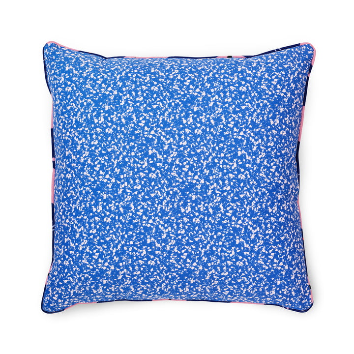 Das Normann Copenhagen - Posh Kissen 50 x 50 cm, Busy Structure, true blue