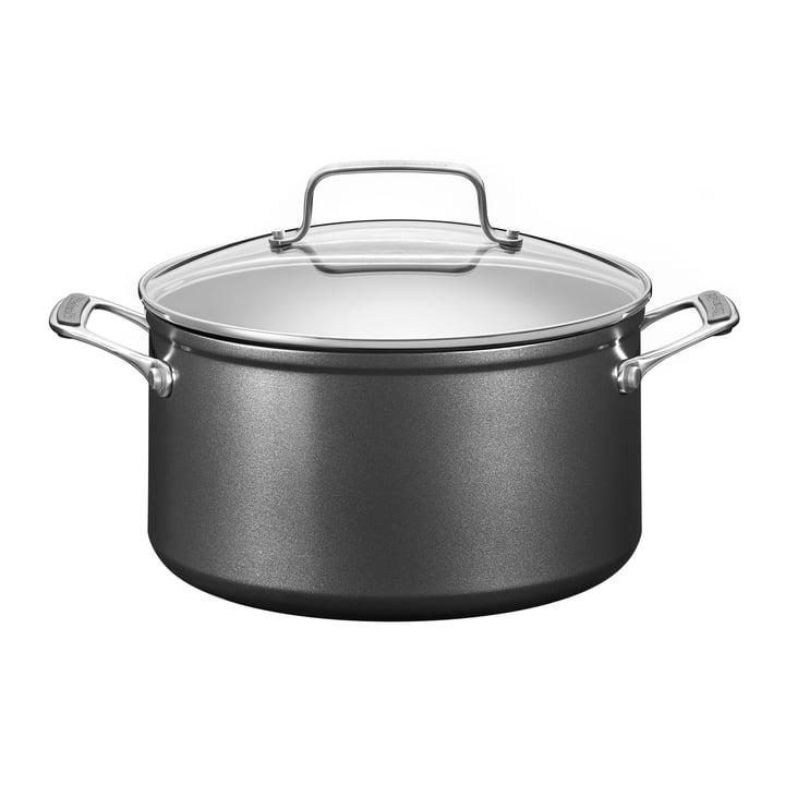 KitchenAid - Harteloxierter Kochtopf mit Deckel 5,5 l, Ø 24 cm / schwarz