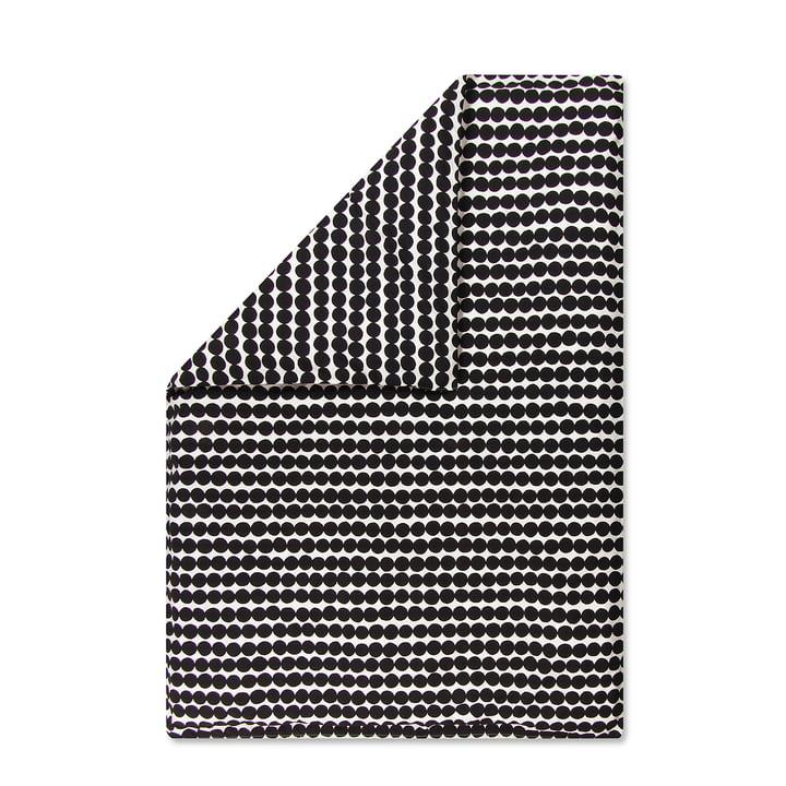 Der Marimekko - Räsymatto Deckenbezug, 140 x 200 cm in schwarz / weiß
