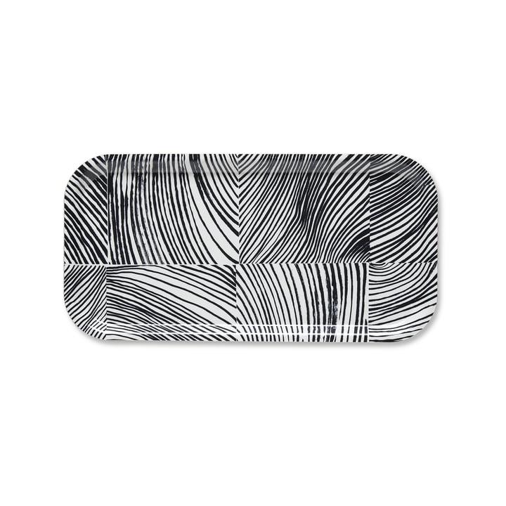Das Marimekko - Kubb Tablett, 43 x 22 cm in weiß / dunkelgrau