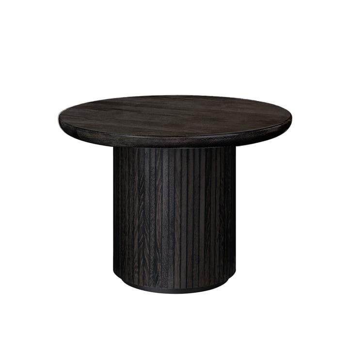 Gubi - Moon Coffee Table, Ø 60 x H 45 cm, Eichenfurnier schwarz / braun gebeizt