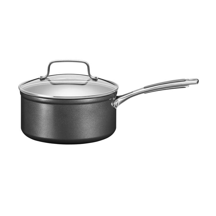 KitchenAid - Harteloxierte Kasserolle mit Deckel Ø 18 cm, schwarz