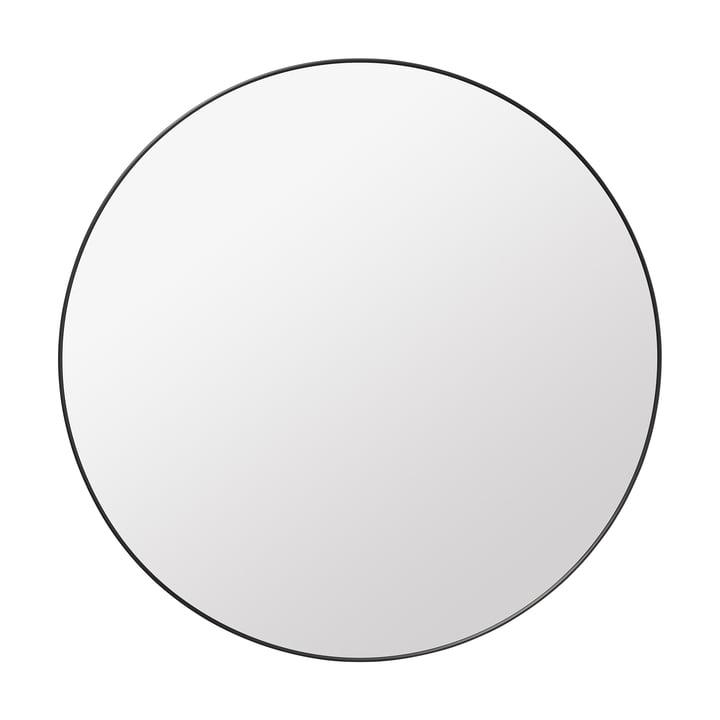 Gubi - Spiegel Ø 110 cm, Messing schwarz