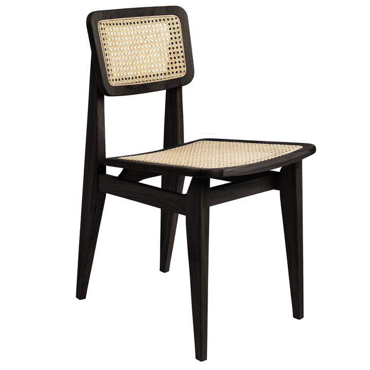 Gubi - C-Chair Dining Chair, All French Cane, Eiche schwarz gebeizt