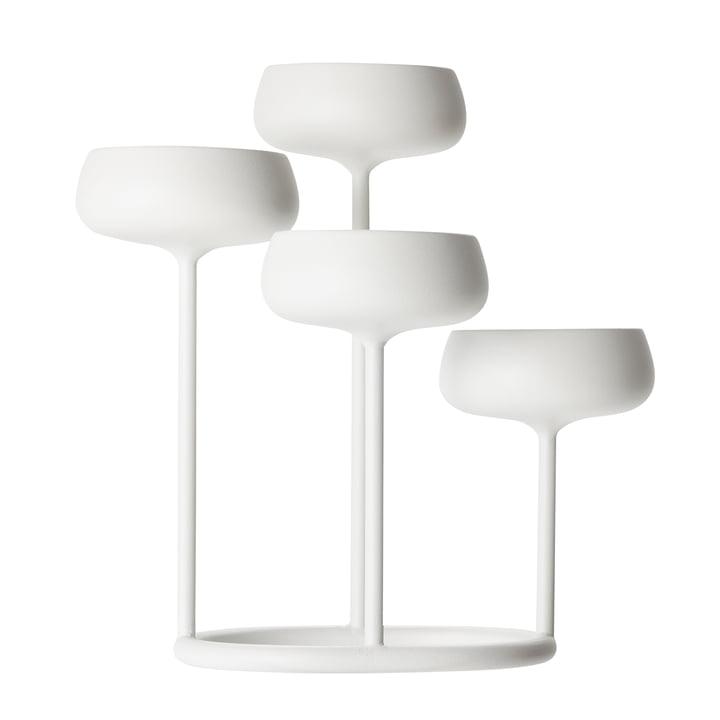 Der Iittala - Nappula Kerzenständer 4-armig, weiß