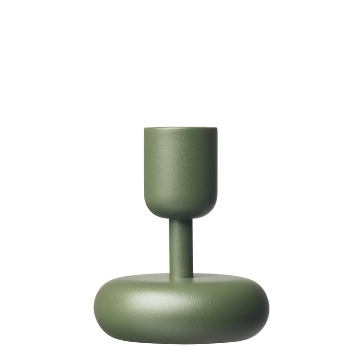 Der Iittala - Nappula Kerzenständer 107 mm, moosgrün