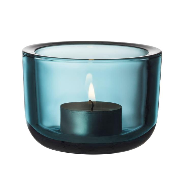 Der Iittala - Valkea Teelichthalter 60 mm, seeblau