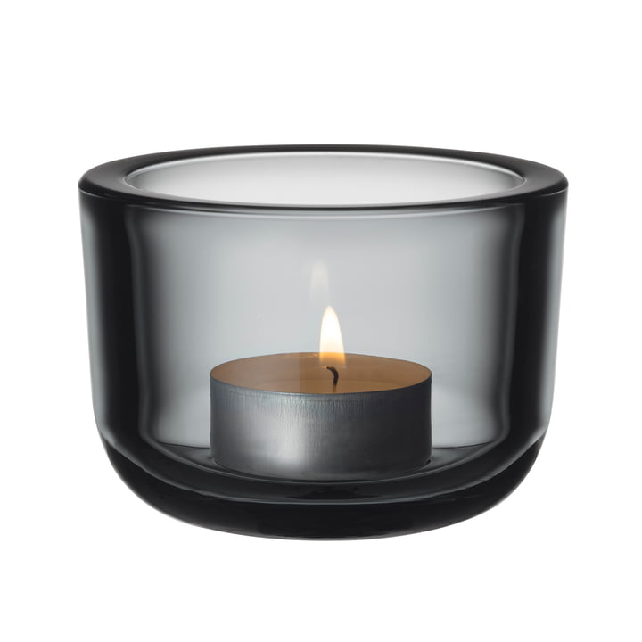 Der Iittala - Valkea Teelichthalter 60 mm, grau