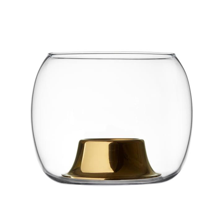 Der Iittala - Kaasa Teelichthalter 141 x 115 mm, klar / rosegold