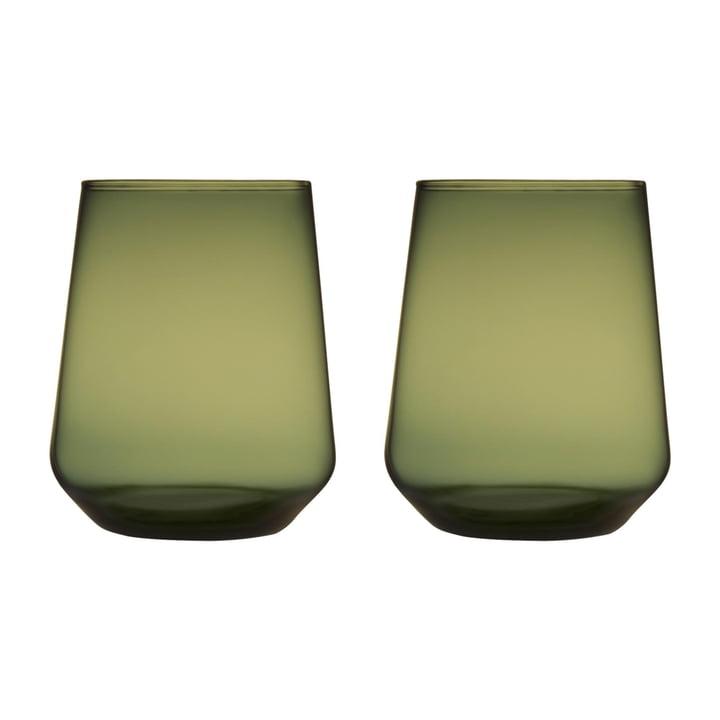 Das Iittala - Essence Wasserglas 35 cl, moosgrün