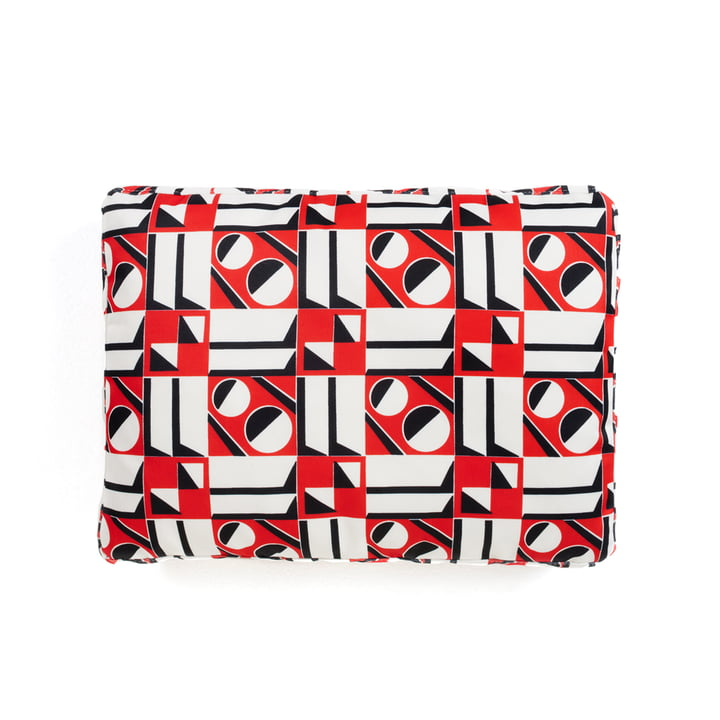 Das Kartell - La Double J Kissen, 48 x 35 cm, geometrico rosso