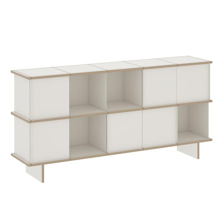 Konstantin Slawinski - YU Sideboard 5 x 2, MDF weiß / weiß