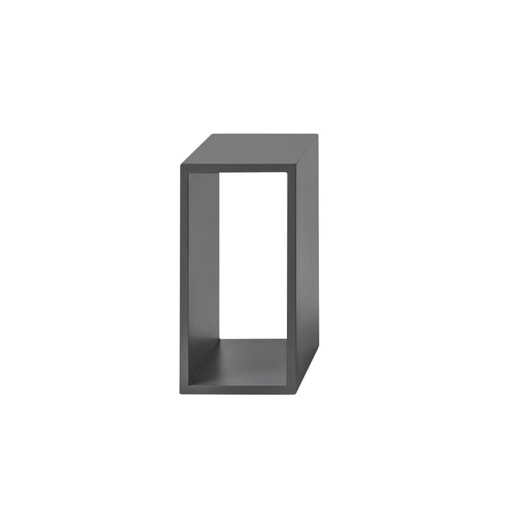 Das Muuto - Stacked Regalmodul 2.0 ohne Rückwand in small / grau