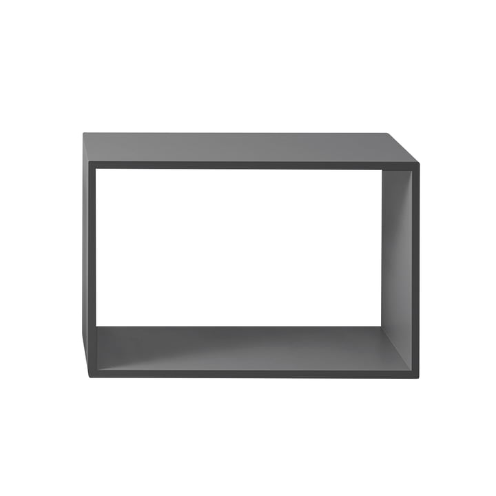 Das Muuto - Stacked Regalmodul 2.0 ohne Rückwand in large / grau