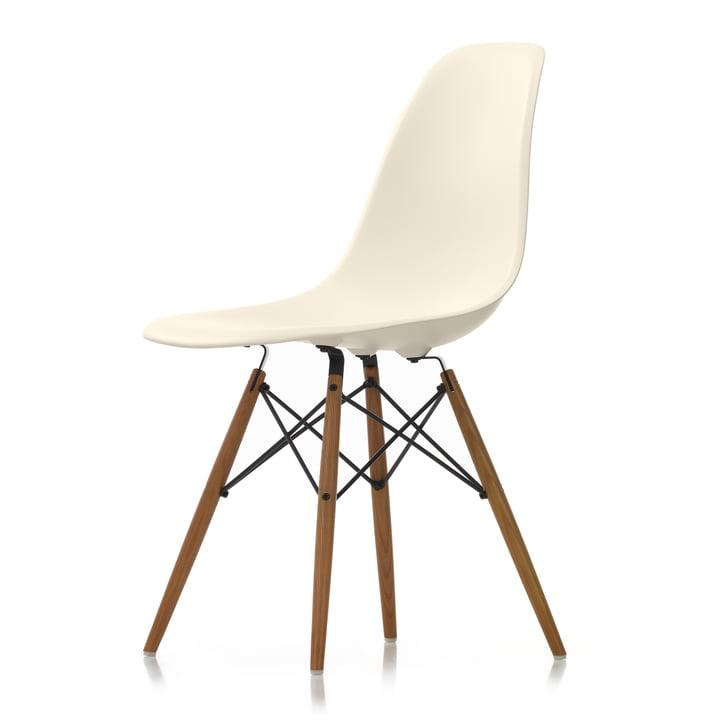 Eames Plastic Side Chair DSW von Vitra in Esche honigfarben / créme