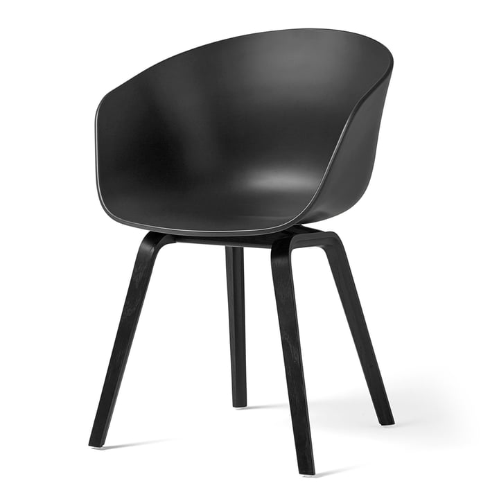 About A Chair AAC 22 von Hay in Eiche schwarz gebeizt / soft black
