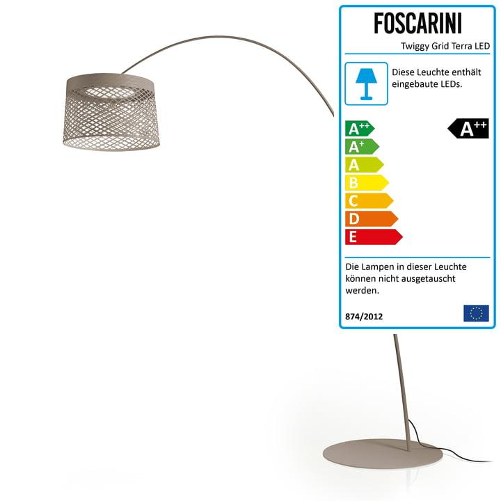Foscarini - Twiggy Grid Terra LED Außenleuchte, carminio