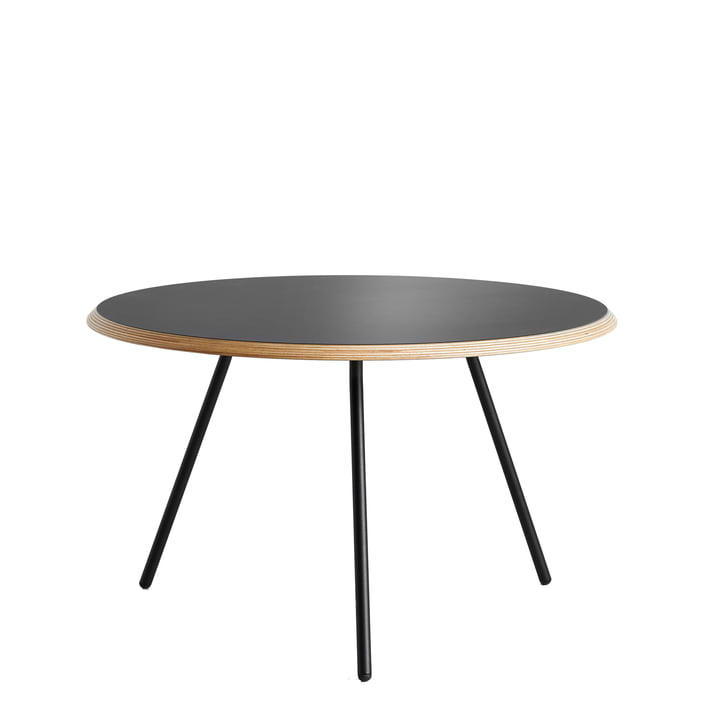 Woud - Soround Side Table H 39,5 cm / Ø 60 cm, Laminat schwarz (Fenix)