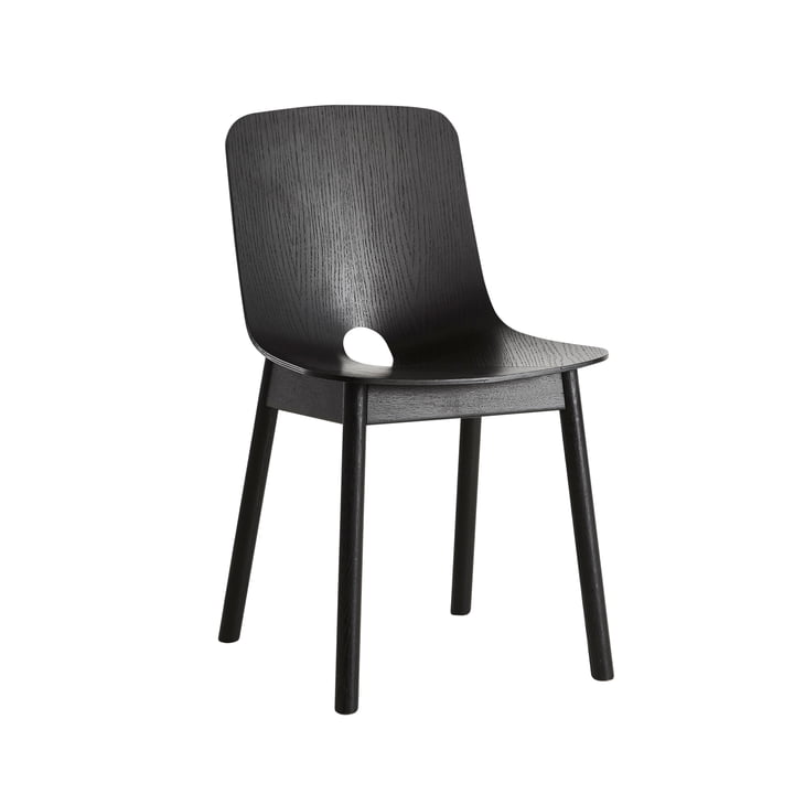Woud - Mono Dining Stuhl, schwarz