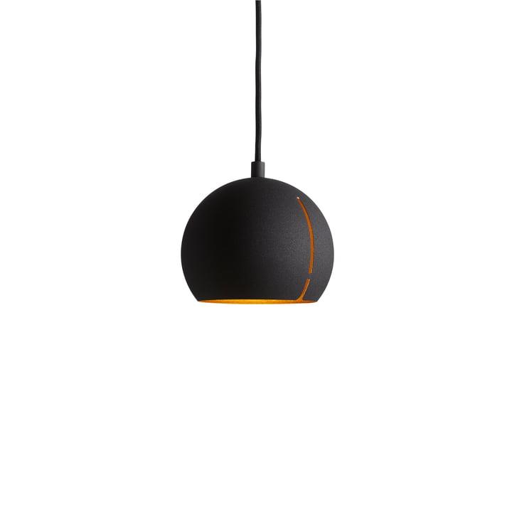 Woud - Gap Pendelleuchte, round / schwarz