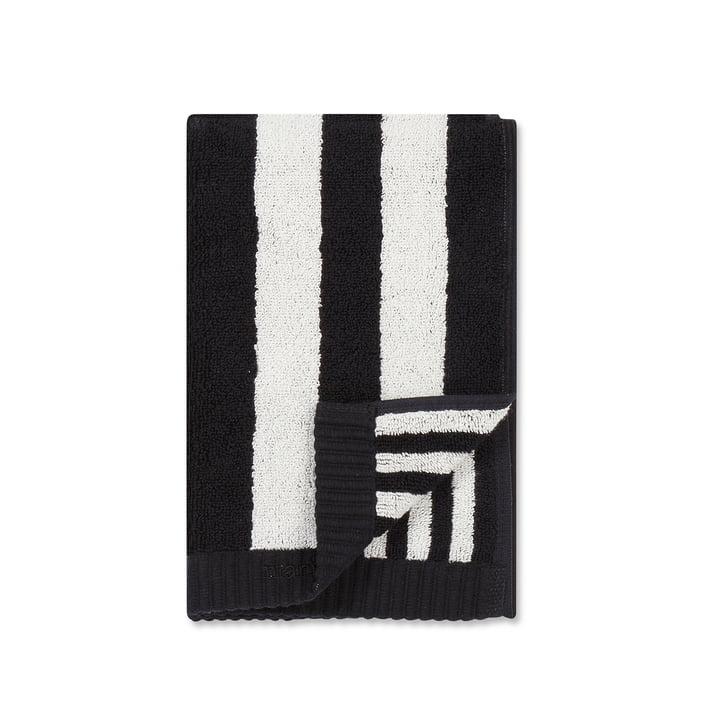 Marimekko - Kaksi Raitaa Gästehandtuch 30 x 50 cm, schwarz / weiß