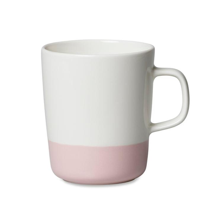 Marimekko - Oiva Puolikas Becher mit Henkel, 250 ml, weiß / rosa