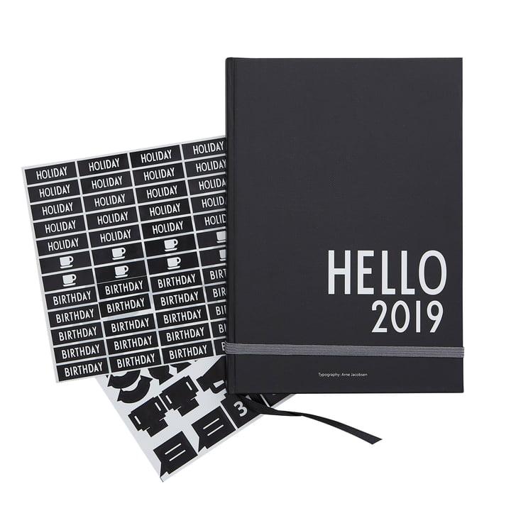 Design Letters - Kalender 2019, A5, schwarz